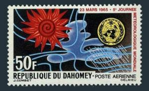 Dahomey C25,MNH.Michel 246. World Meteorological Day,1965.Weather map.