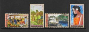 FRENCH POLYNESIA #931-4 PAINTINGS  MNH
