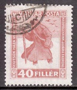 Hungary - Scott #B69a - Used - Vertical crease - SCV $3.50