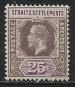 Straits Settlements KGV 1912 25 cents unmounted mint NH