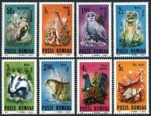 Romania 3255-3262,hinged.Mi 4133-4140. Wildlife conservation,1985.Animals,birds.