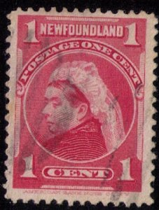 Newfoundland Sc 79 Carmine Rose Used F-VF