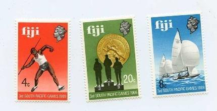 Fiji Stamp Set Scott #280-82, Mint Never Hinged - Free U.S. Shipping, Free Wo...