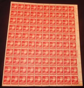 MALACK C79 13c Winged Envelope, F/VF OG NH, Full She..MORE.. sheetc79
