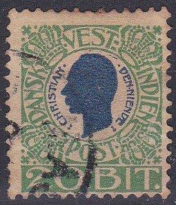 Danish West Indies Sc #33 Used