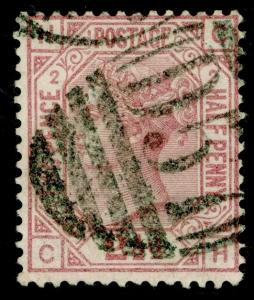 SG139, 2½d rosy mauve PLATE 2, USED. Cat £80. WMK ANCHOR. CH