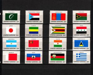 UNITED NATIONS 499-514 MNH 2019 SCOTT SPECIALIZED CATALOGUE VALUE $4.80