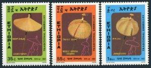 Ethiopia 1170-1172,MNH.Michel 1256-1258. Umbrellas 1987.