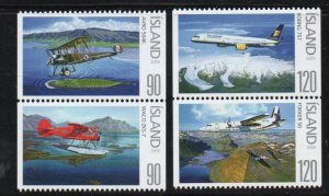 Iceland Sc  1163-64 2009 Airplane stamp set mint NH