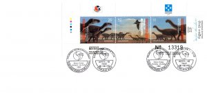 Micronesia, Worldwide First Day Cover, Dinosaurs