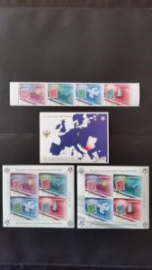 50th anniversary of EUROPA stamps - Montenegro complete 3x Bl + 1x set ** MNH