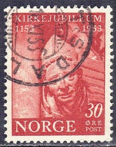 NORWAY SC# 330 *USED* 30o  1953  SEE SCAN