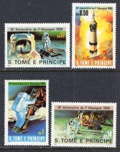 Sao Tome and Principe 578-581 Space MNH VF
