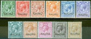 Nauru 1916-23 set of 11 SG1-12 Fine Lightly Mtd Mint