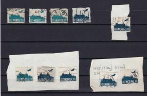 NORWAY 1927 AIR STAMP STUDY WITH & WITHOUT FRAMES  REF 5271