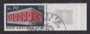 Andorra French    #189  cancelled  1969  Europa  70c