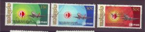 J17834 JLstamps 1973 malaysia set used #108-10 airplanes
