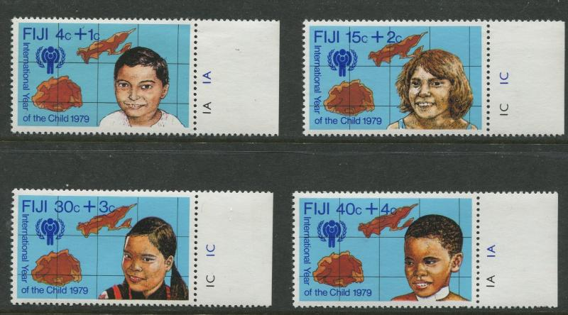 Fiji - Scott B7 -B10 - Surcharge Issue -1979 - MNH -Set of 4 Stamps