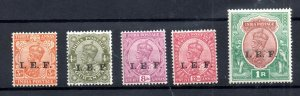 India KGV 1914 Expeditionary Forces mint part set to 1R WS19022