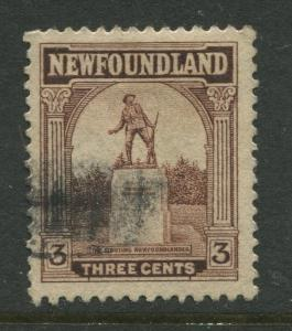 Newfoundland -Scott 133 -Pictorial Definitive Issue -1923 -Used -Single 3c Stamp
