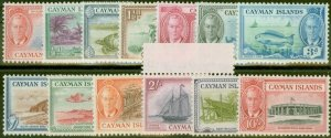 Cayman Islands 1950 set of 13 SG135-147 V.F Lightly Mtd Mint & MNH
