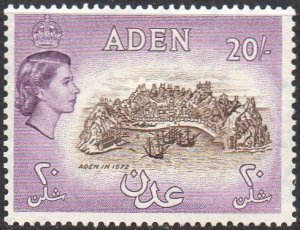 Aden 195320/- chocolate and reddish lilac MH