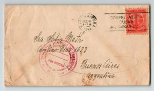Spanish West Indies 1944 Censor Cover to Argentina  - Z13658