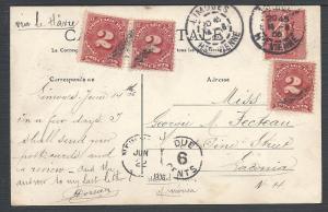 Scott J39(3), France 162, Limoges to Laconia N.H., Postag...