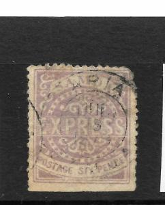 SAMOA  1877-80  6d  PALE LILAC EXPRESS    FU   SG 3a