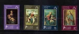 Christmas on Pitcarin #262-265  MNH