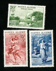 Algeria Stamps # B91-3 VF OG LH Scott Value $22.00