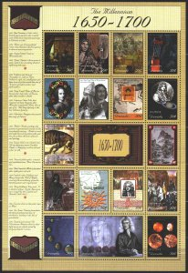 Grenada. 2000. Small sheet 4126-42. Millennium, Peter 1, Ivan the Terrible, N...