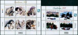 HERRICKSTAMP NEW ISSUES MARSHALL ISLAND Christmas 2017 Souvenir Sheets