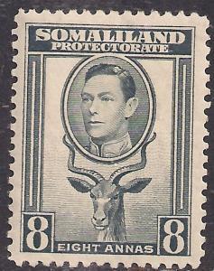 Somaliland 1938 KGV1 8 anna Grey MM SG 99 ( R1055 )