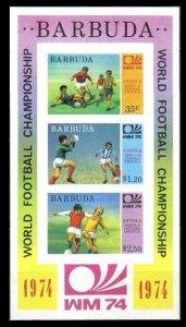 1974 Barbuda 175-177/B8b 1974 World championship on football of Munchen