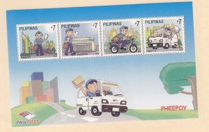 Philippines: Sc #3336-3336e, MNH, S/S, Mail Delivery (S18917)