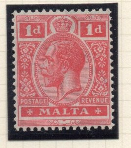 Malta 1921-22 Early Issue Fine Mint Hinged 1d. 321522