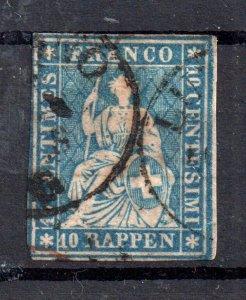 Switzerland 1850 10R imperf good used WS15172