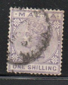 Malta Sc 13 1882 1/  violet Victoria stamp used