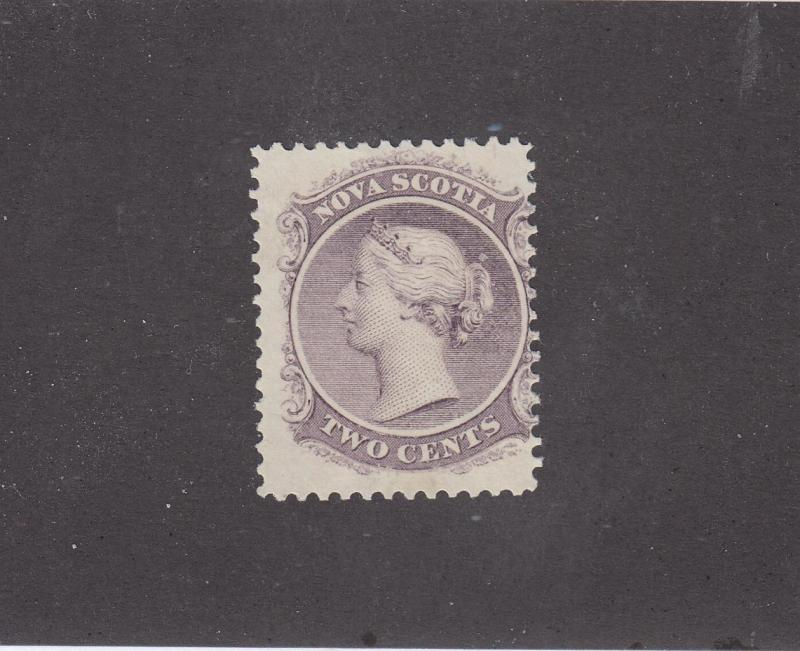 NOVA SCOTIA REF# KM12 # 9 FVF-MNH 2cts LILAC QUEEN VICTORIA CAT VALUE $24