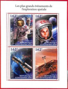 A1623 - CENTRAL AFRICAN R - ERROR: MISSPERF S/S -2018, Space, Astro, Y Gagarin