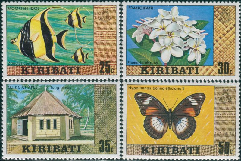 Kiribati 1980 SG129-132 Fish Flower Chapel Butterfly MNH