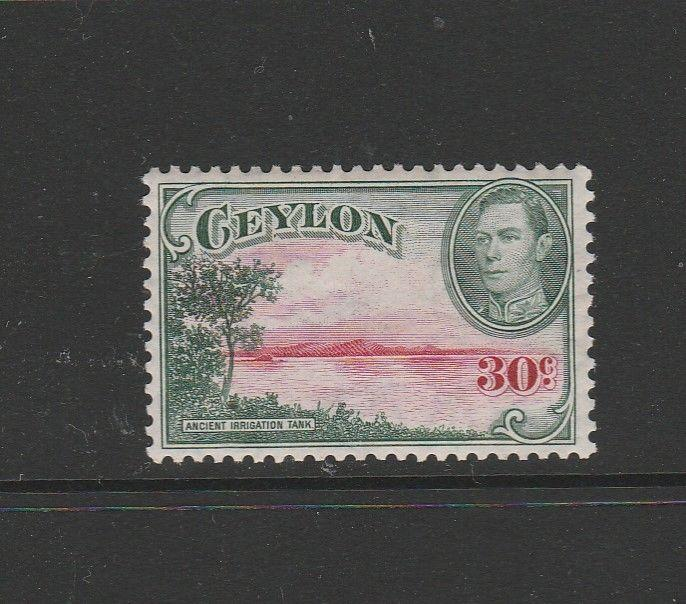 Ceylon 1938 GV1 30c Wmk Sideways MM SG 393