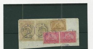 US DOCUMENTARY  TWO DOLLAR PAIR WITH OVERPRINT  ON PIECE