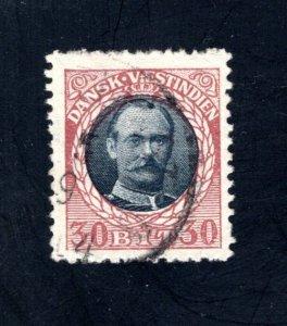 Danish West Indies #48,  VF,  Used,   CV $52.50 ....1630046