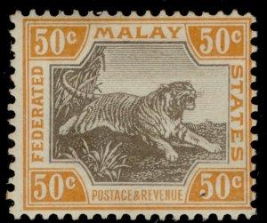MALAYSIA - Federated Malay EDVII SG47, 50c grey & orange, M MINT. Cat £95.