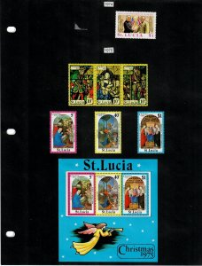 St Lucia Selection of 77 Stamps/11 Sheets MH/MNH (SCV $52.55) Starting at 5%