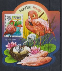 Sierra Leone MNH S/S Flamingos 2015