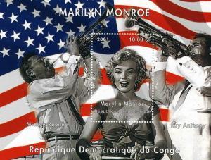 Congo Kinshasa MARILYN MONROE RAY ANTHONY MICKEY ROONEY s/s Perforated Mint (NH)