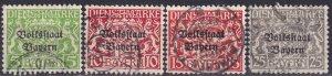 Bavaria #O21, O23-4, O26  F-VF  Used CV $8.75 (Z3954)